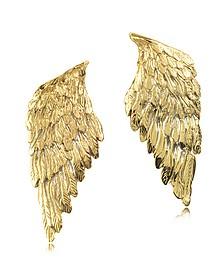 Boucles d'oreilles ailes en bronze - Bernard Delettrez