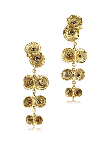 Bernard Delettrez - Bronze 4 Owls Earrings