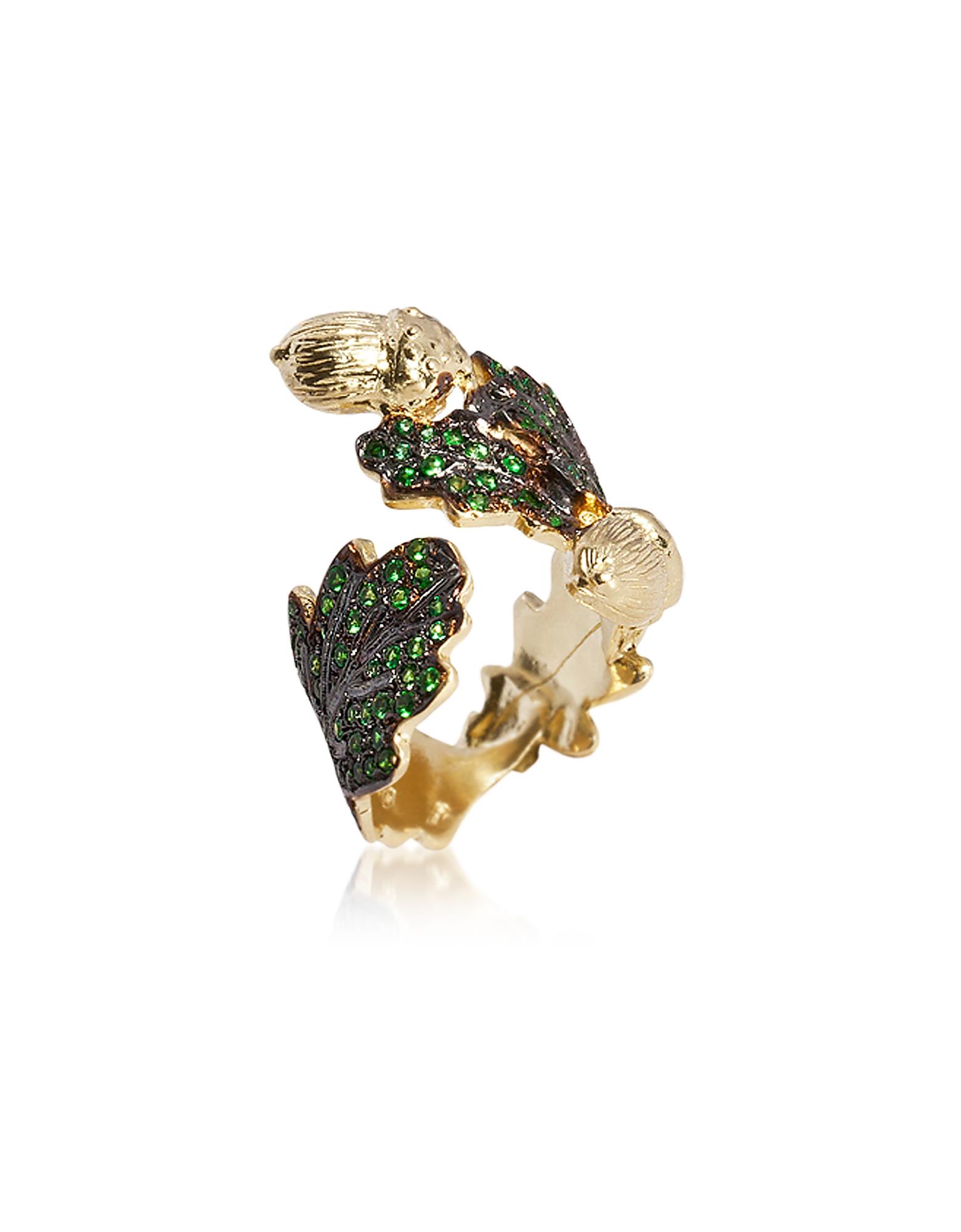 Bernard Delettrez Designer Rings, Oak leaf Gold Ring
