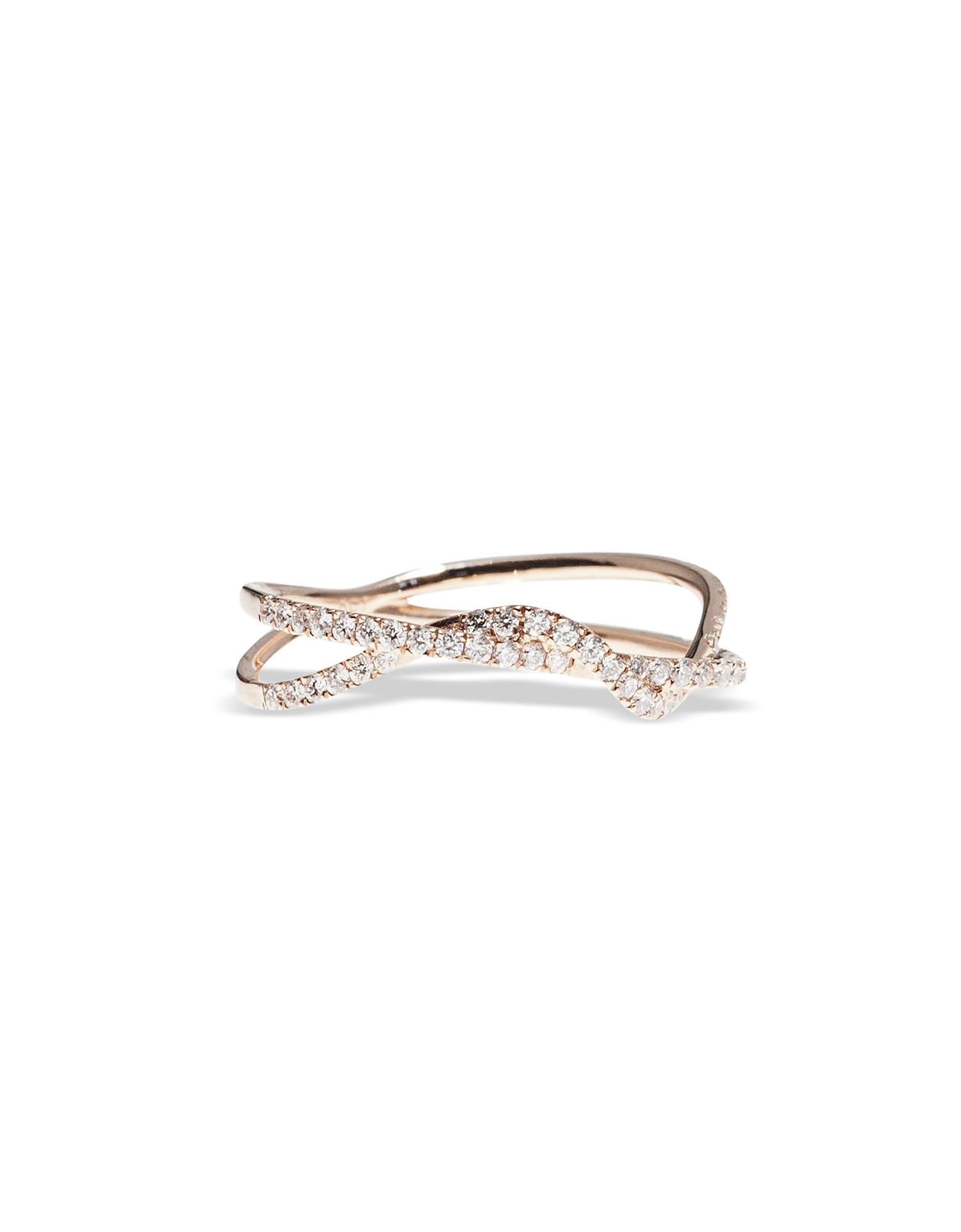 Or rose Torsion Anneau w/ Diamants