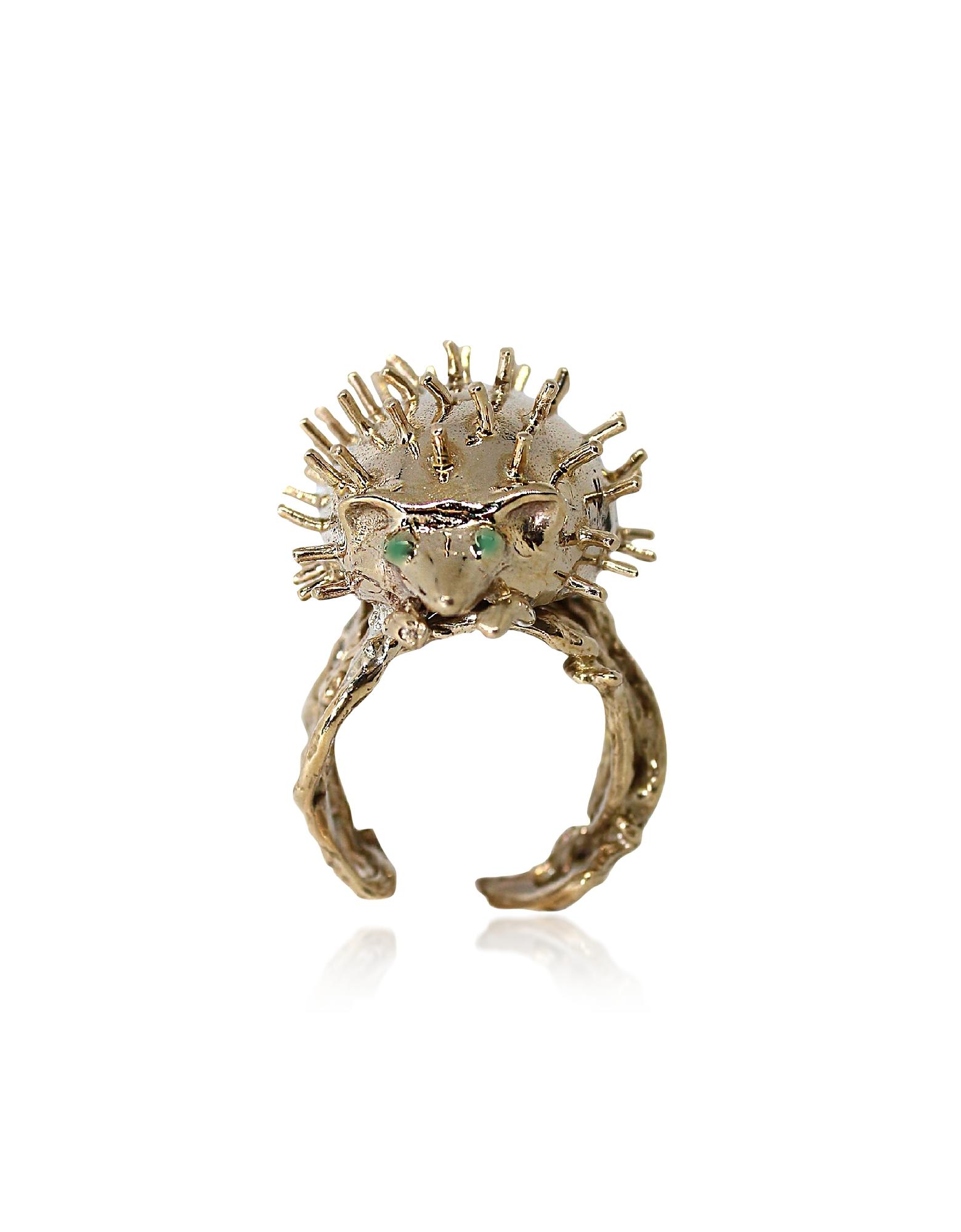 Bronze Hedgehog Ring