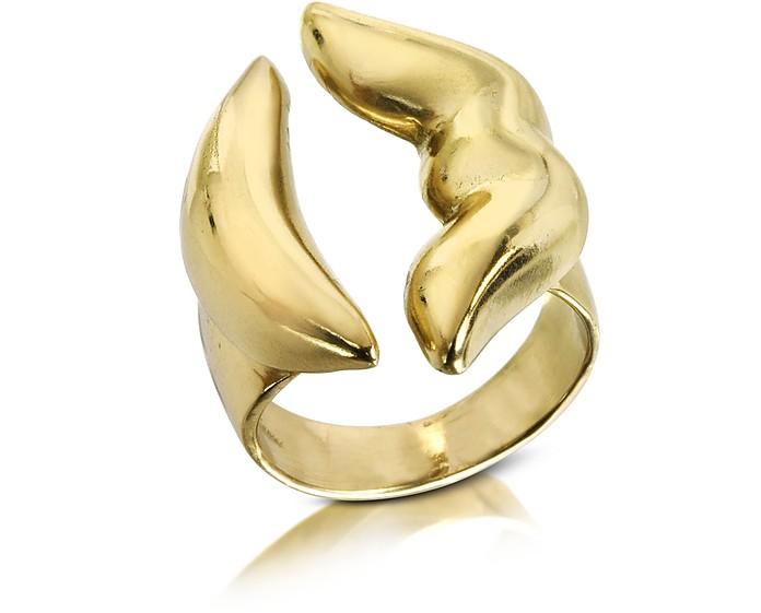 Mouth Bronze Ring - Bernard Delettrez