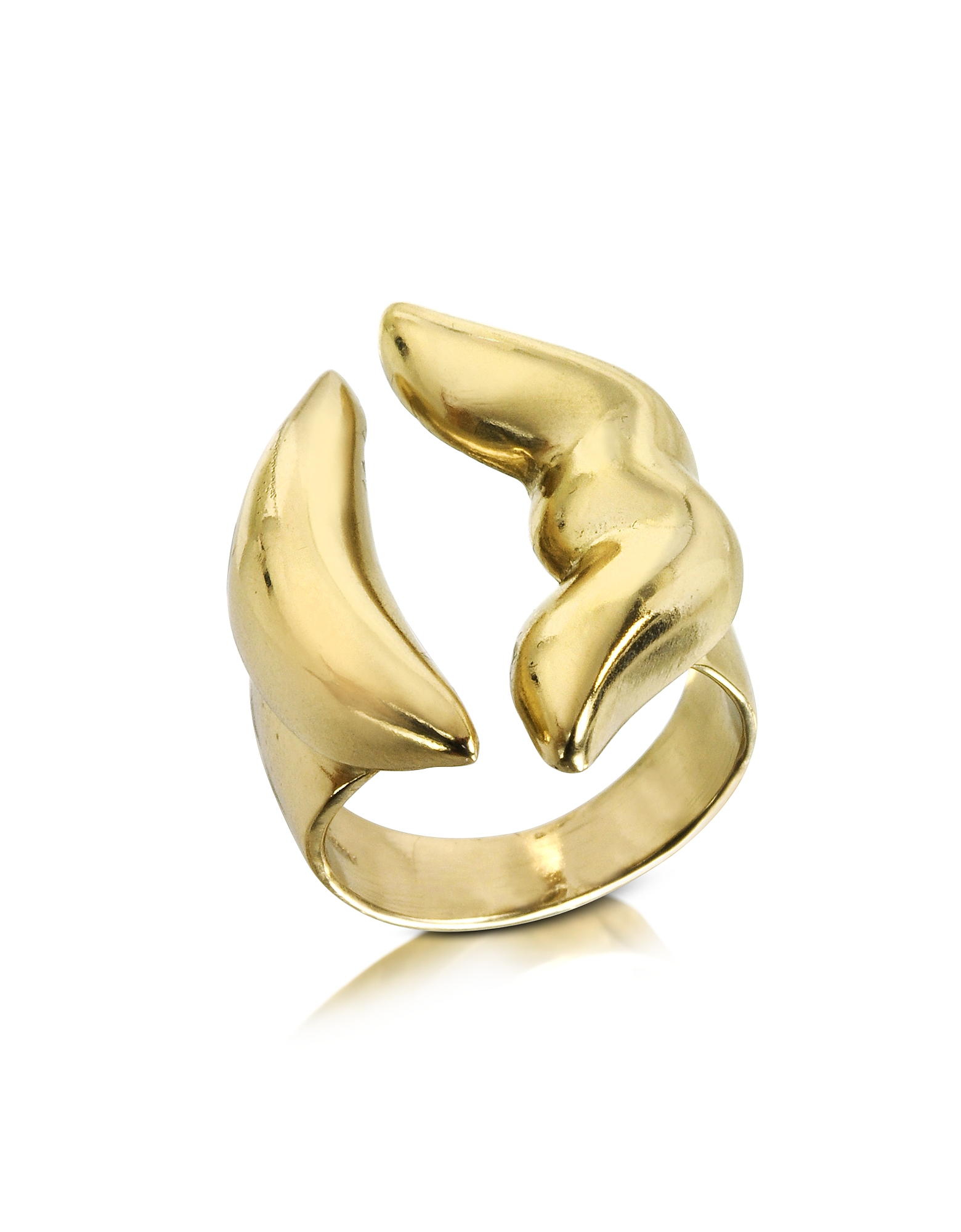 Bernard Delettrez Rings, Mouth Bronze Ring