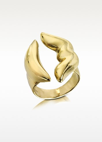 Mouth Bronze Ring - Bernard Delettrez