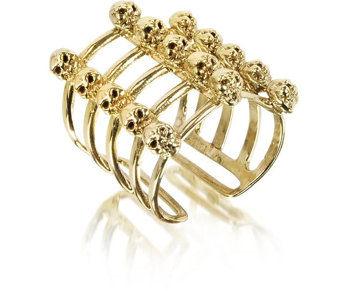 Cage and Skulls Bronze Ring - Bernard Delettrez