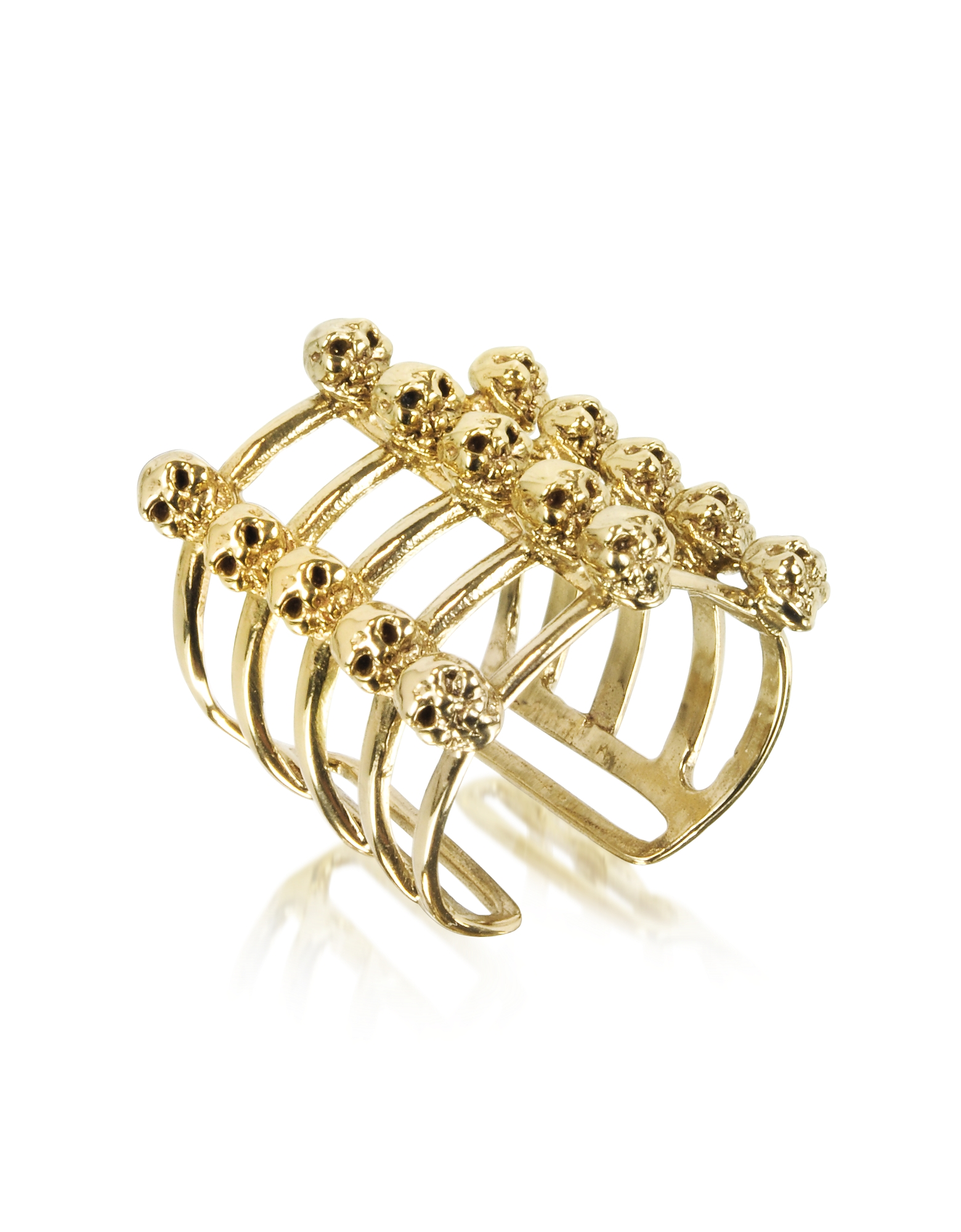 Bernard Delettrez Rings, Cage and Skulls Bronze Ring