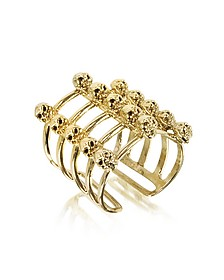 Cage and Skulls Ring aus Bronze - Bernard Delettrez