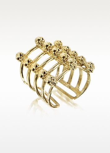 Cage and Skulls Bronze Ring - Bernard Delettrez