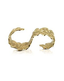 Two Fingers Bronze Leafy Ring - Bernard Delettrez
