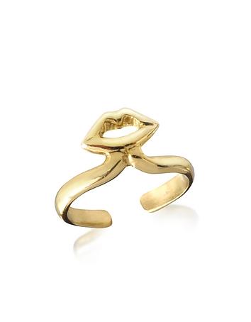 Bernard Delettrez - Bronze Midi Ring w/Mouth
