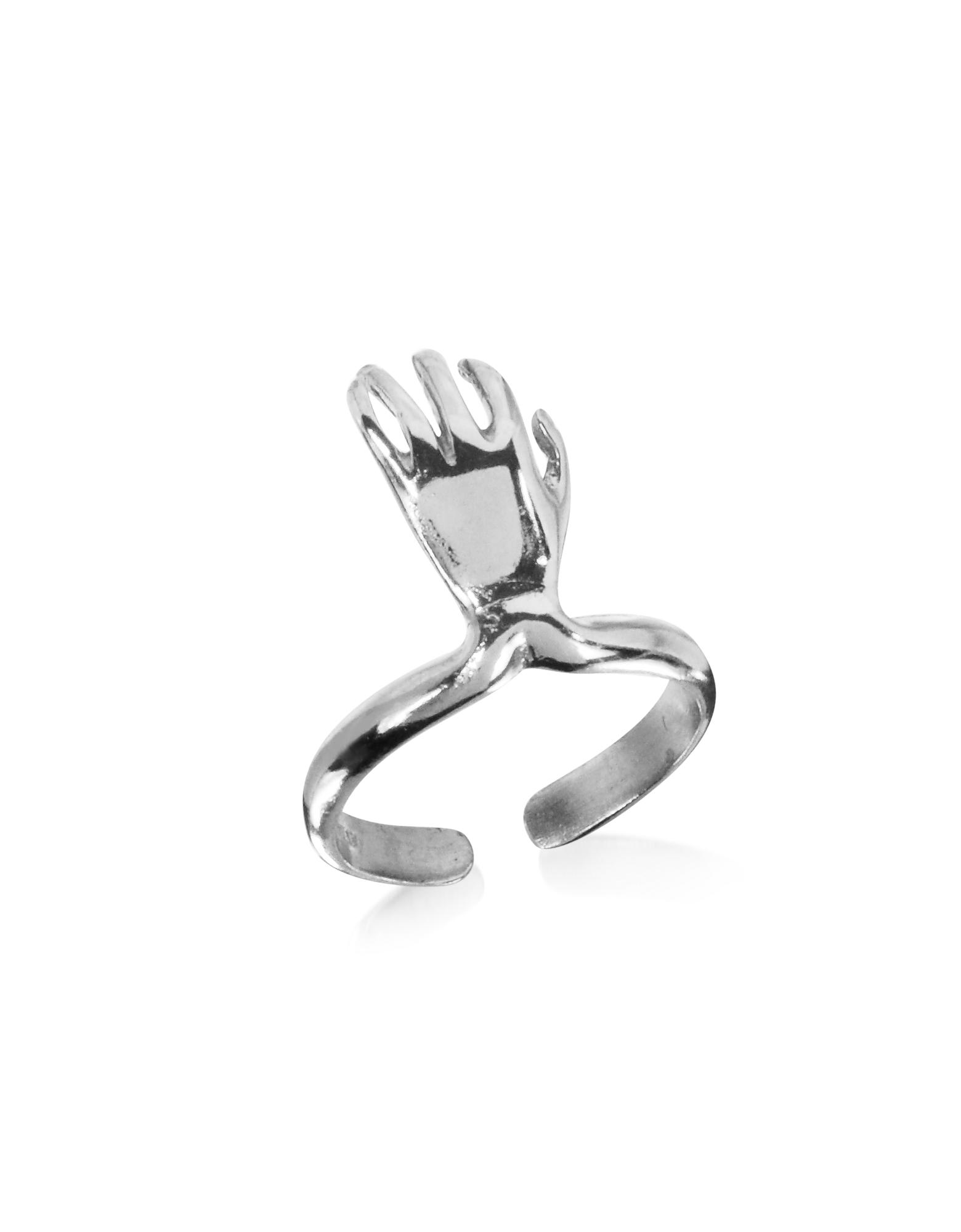 Серебрянное Кольцо с Рукой