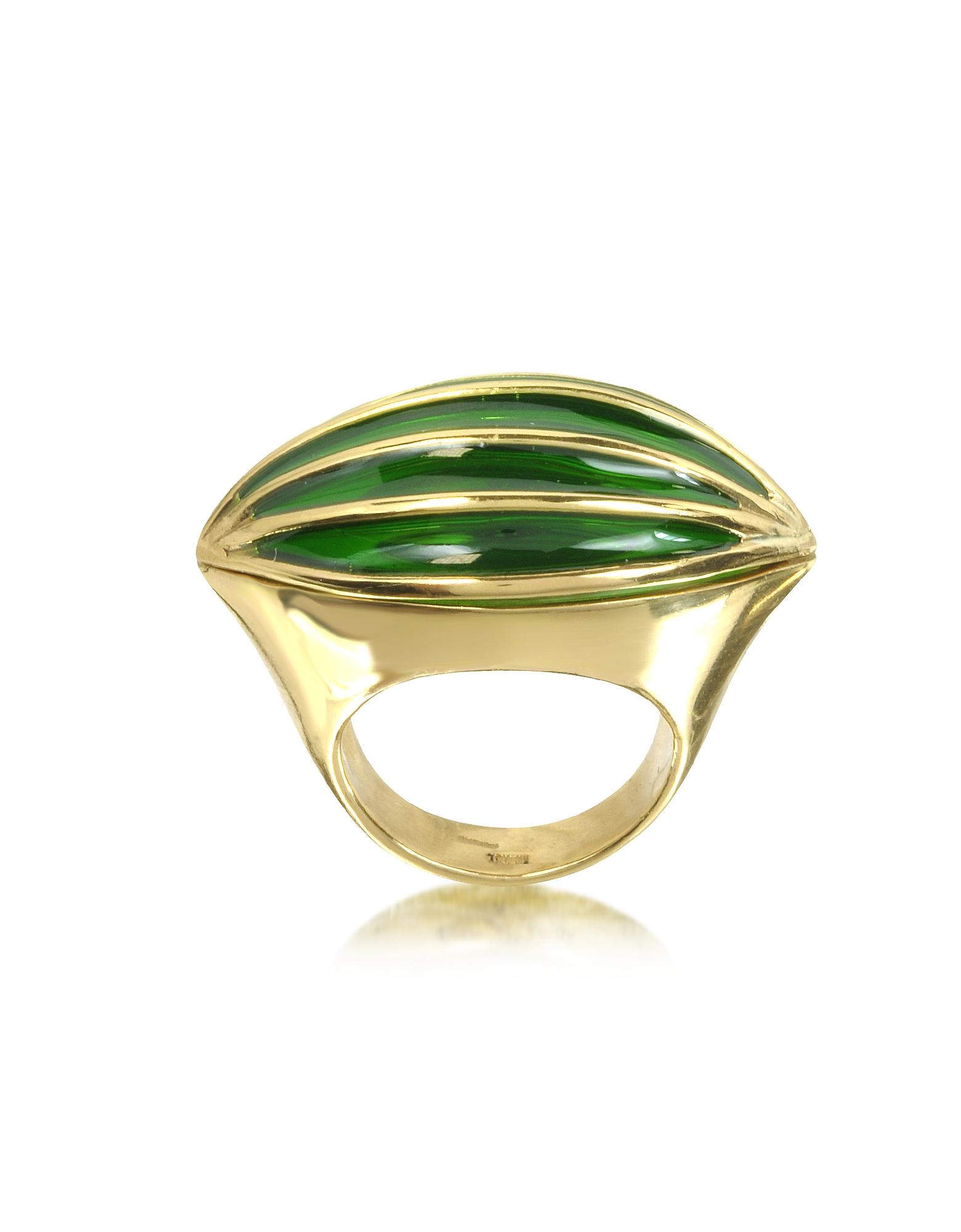 Bernard Delettrez Rings, Bronze Poison Ring w/Eye