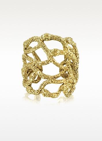 Multi Snakes Flat Bronze Ring - Bernard Delettrez