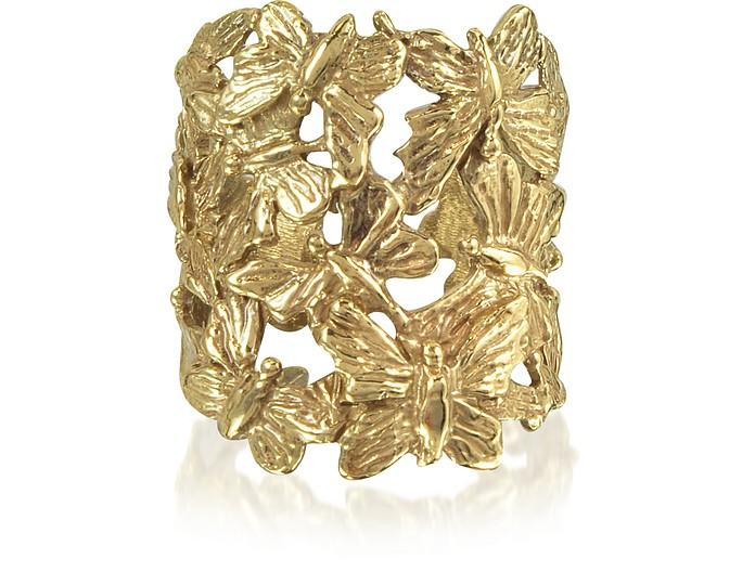 Butterflies Flat Bronze Ring - Bernard Delettrez