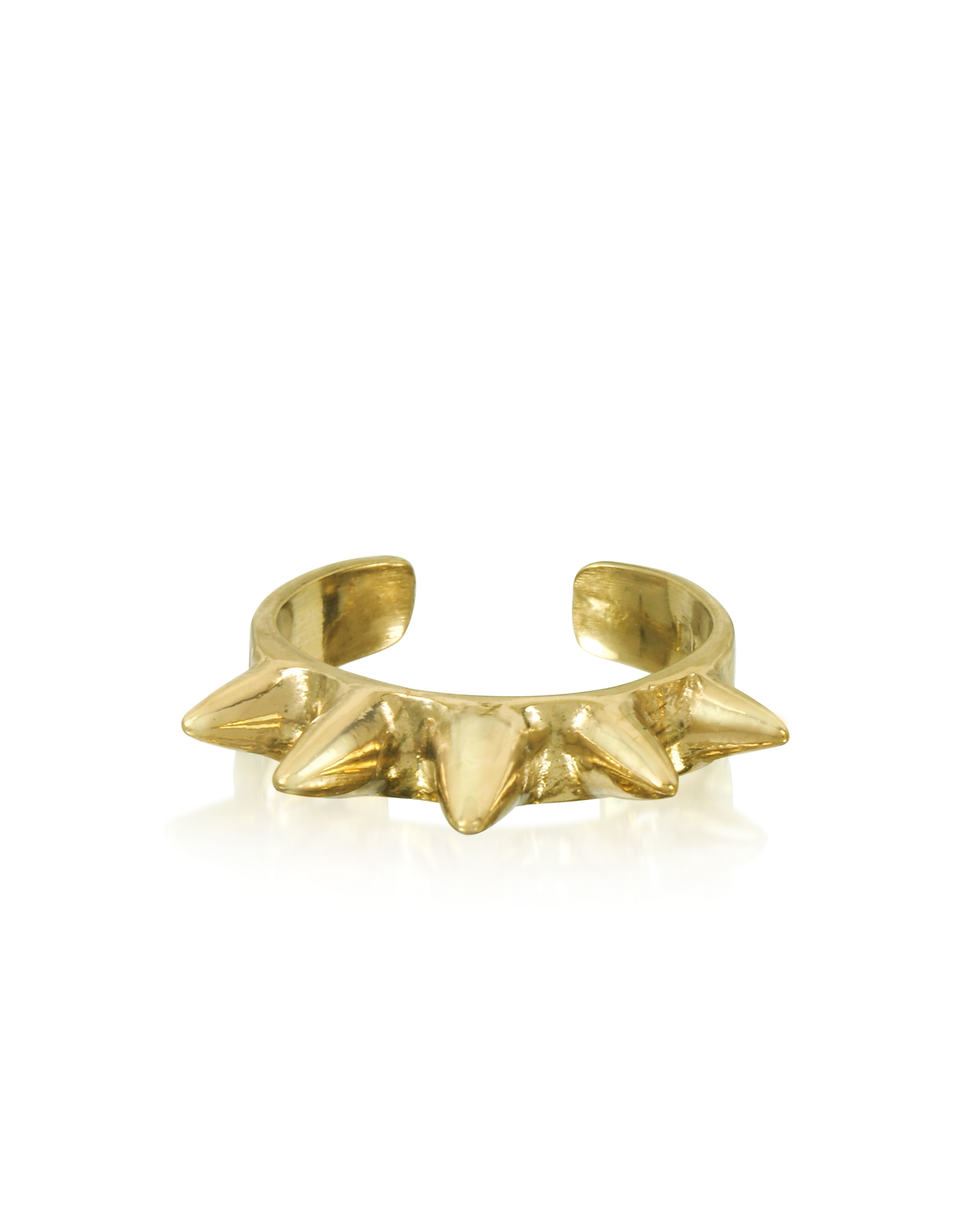 Bernard Delettrez Rings, Single Band Bronze Ring w/Spikes