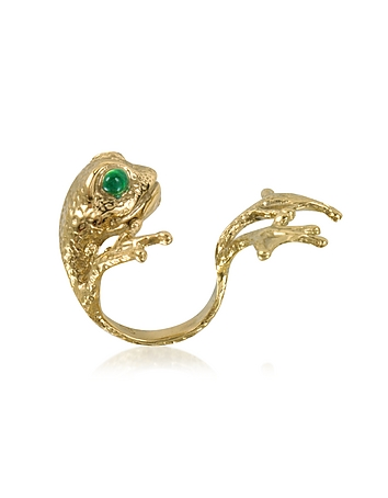 Bernard Delettrez - Bronze Frog Ring w/Big Paws