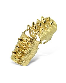Golden Studs Articulated Bronze Ring - Bernard Delettrez
