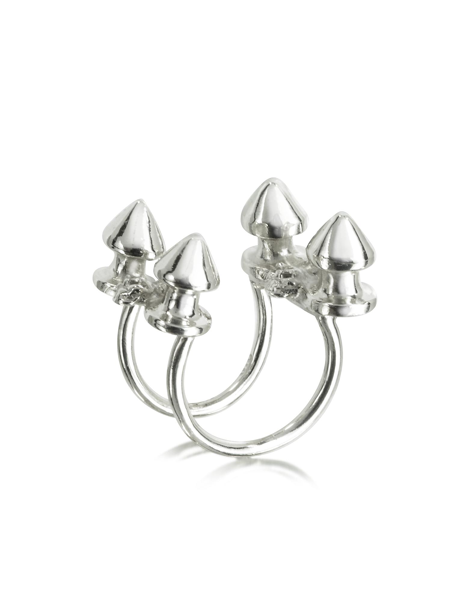 Bernard Delettrez Rings, Four Studs Silver Ring