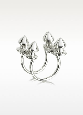 Four Studs Silver Ring - Bernard Delettrez