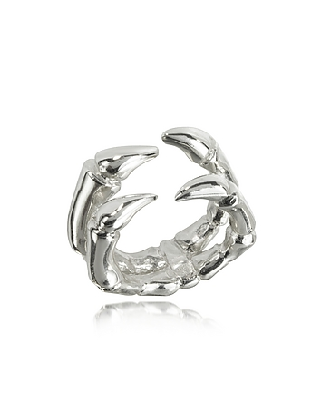 Parrot Claw Silver Ring