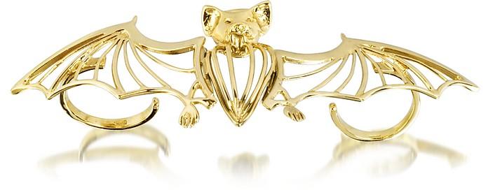 Bronze 2 Fingers Cated Bat Ring - Bernard Delettrez