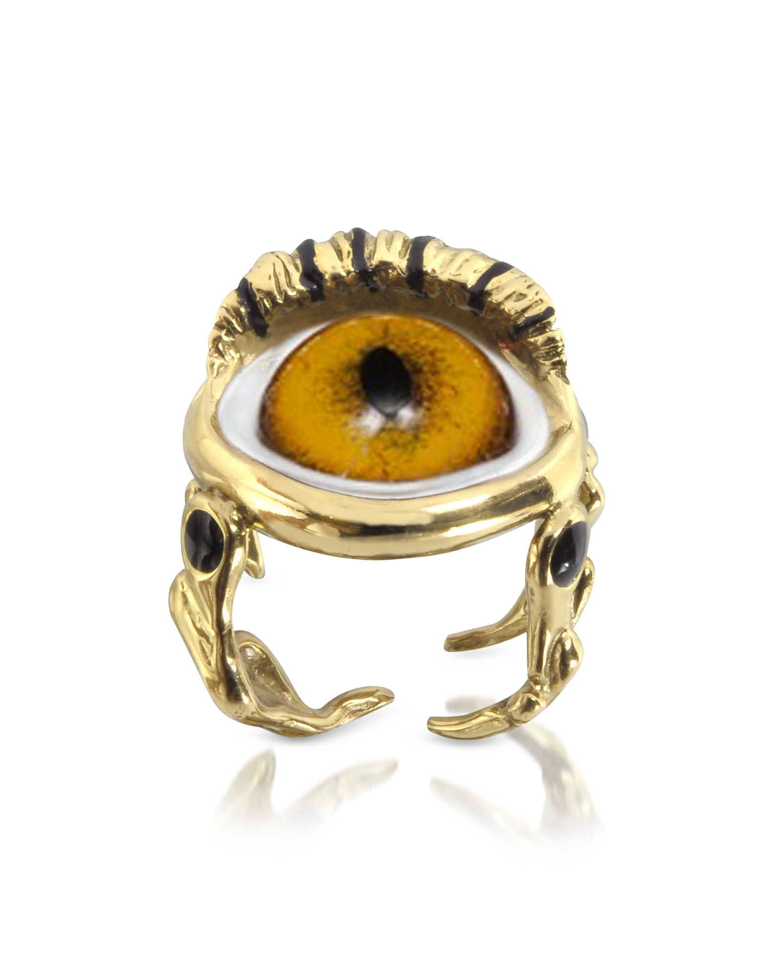 Bernard Delettrez Rings, Bronze Eye Ring