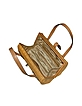 Capaf Line Light Brown Wicker and Leather Barrel Bag - Forzieri