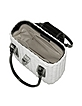 Capaf Line Black & White Wicker Handbag - Forzieri