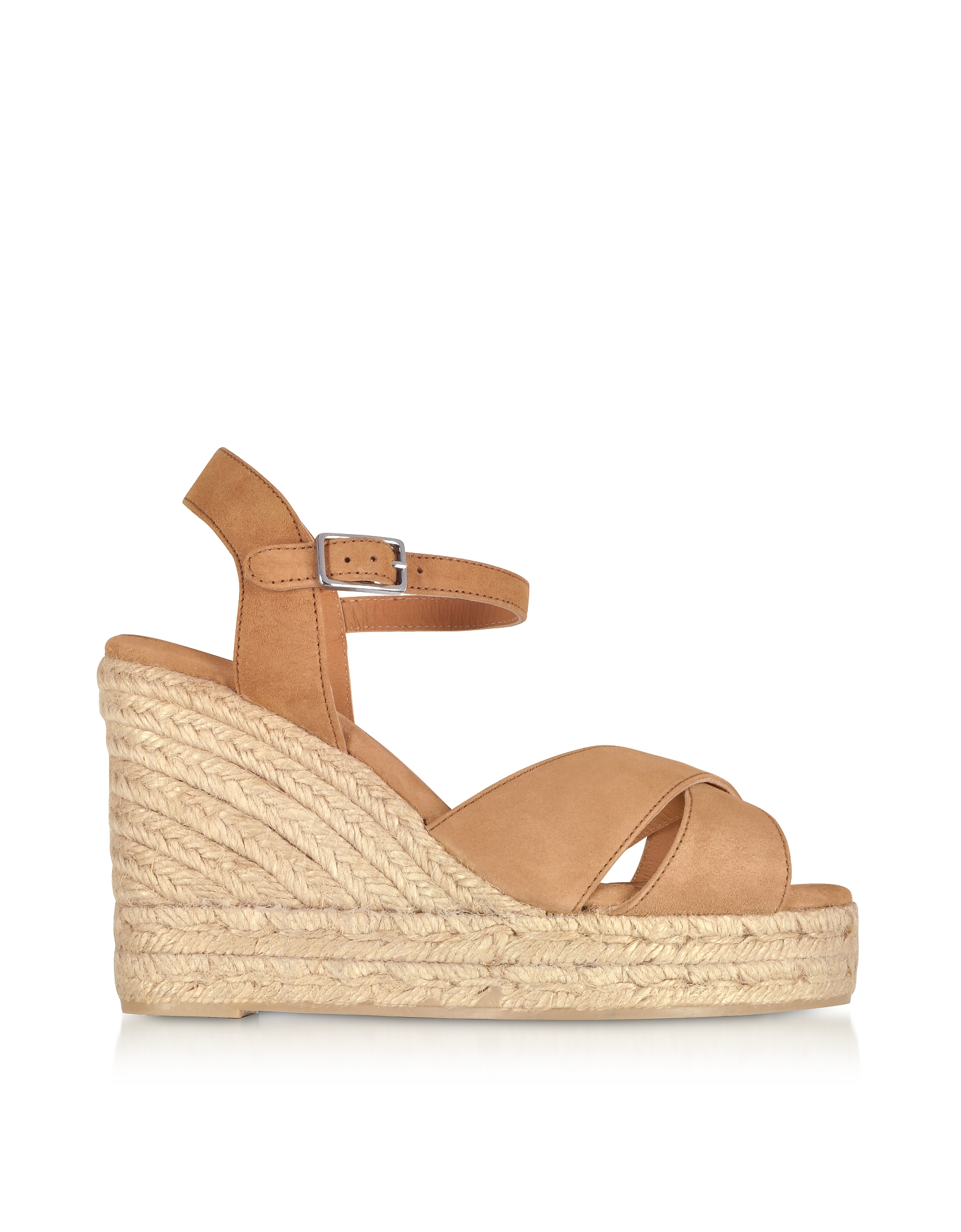 Castaner Blaudell Brown Suede Wedge Sandals