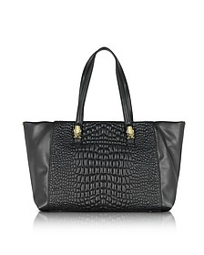 True Diva Medium Black Quilted Eco Leather Tote bag - Class Roberto Cavalli