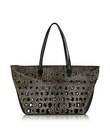 Obsession Treasure Animal Print Eco Leather Tote Bag w/Crystals - Class Roberto Cavalli