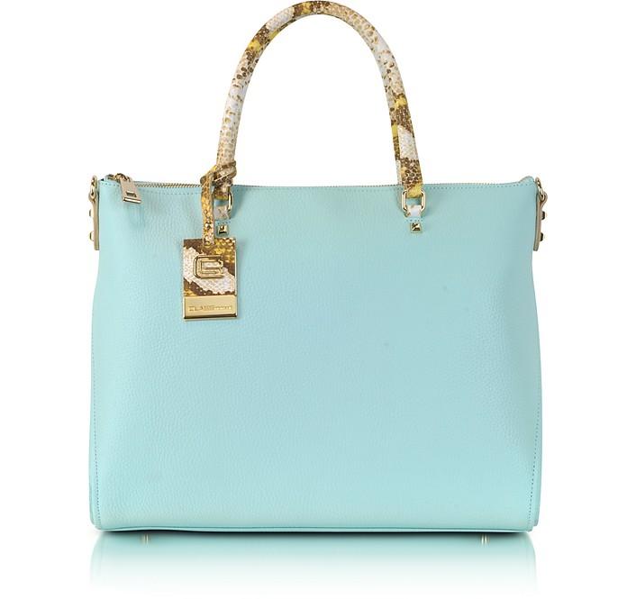 Class Angelite Light Blue Tote Bag - Roberto Cavalli