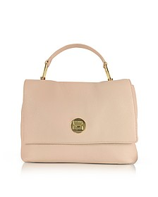 Liya Degas Pink Grainy Leather Satchel Bag - Coccinelle