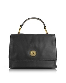 Liya Black Grainy Leather Satchel Bag - Coccinelle