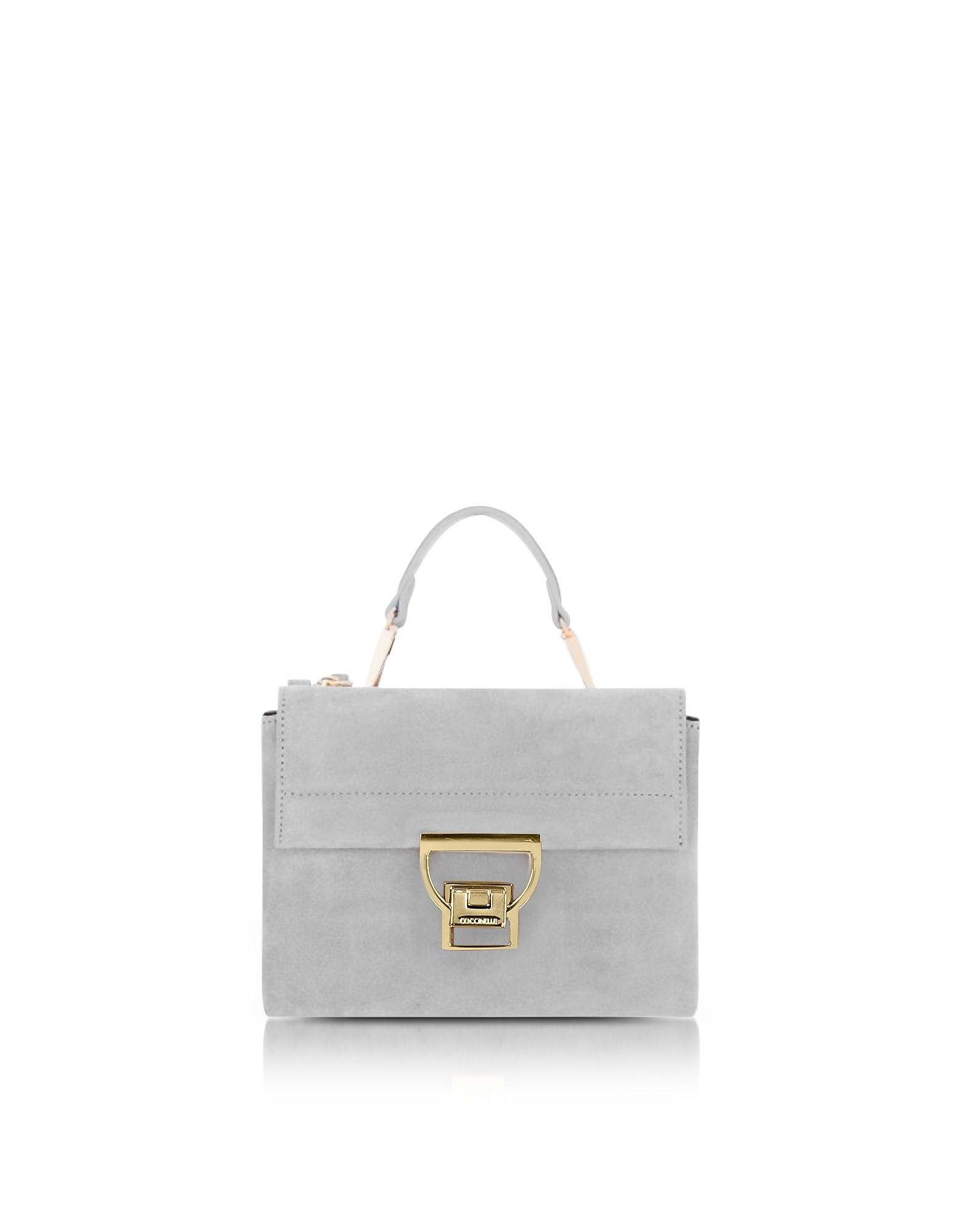 Coccinelle Iris Suede Arlettis Mini Bag w/Shoulder Strap