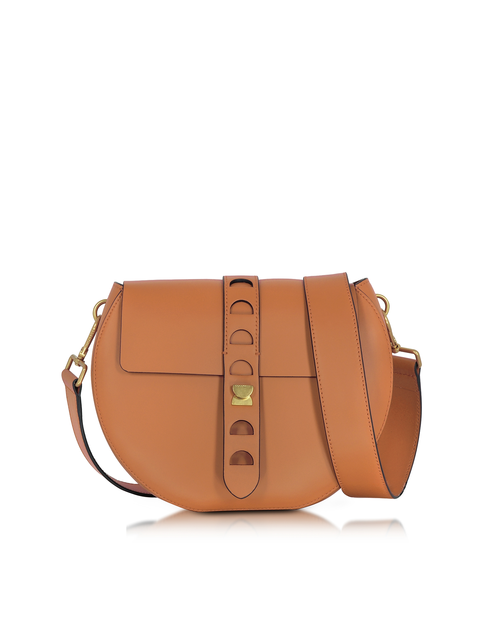 Coccinelle Carousel Large Cuoio Leather Crossbody Bag