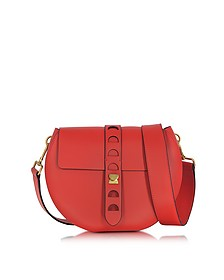 Carousel Large Red Leather Crossbody Bag - Coccinelle