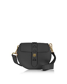 Carousel Mini Black Leather Crossbody Bag - Coccinelle