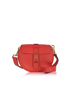 Carousel Mini Red Leather Crossbody Bag - Coccinelle