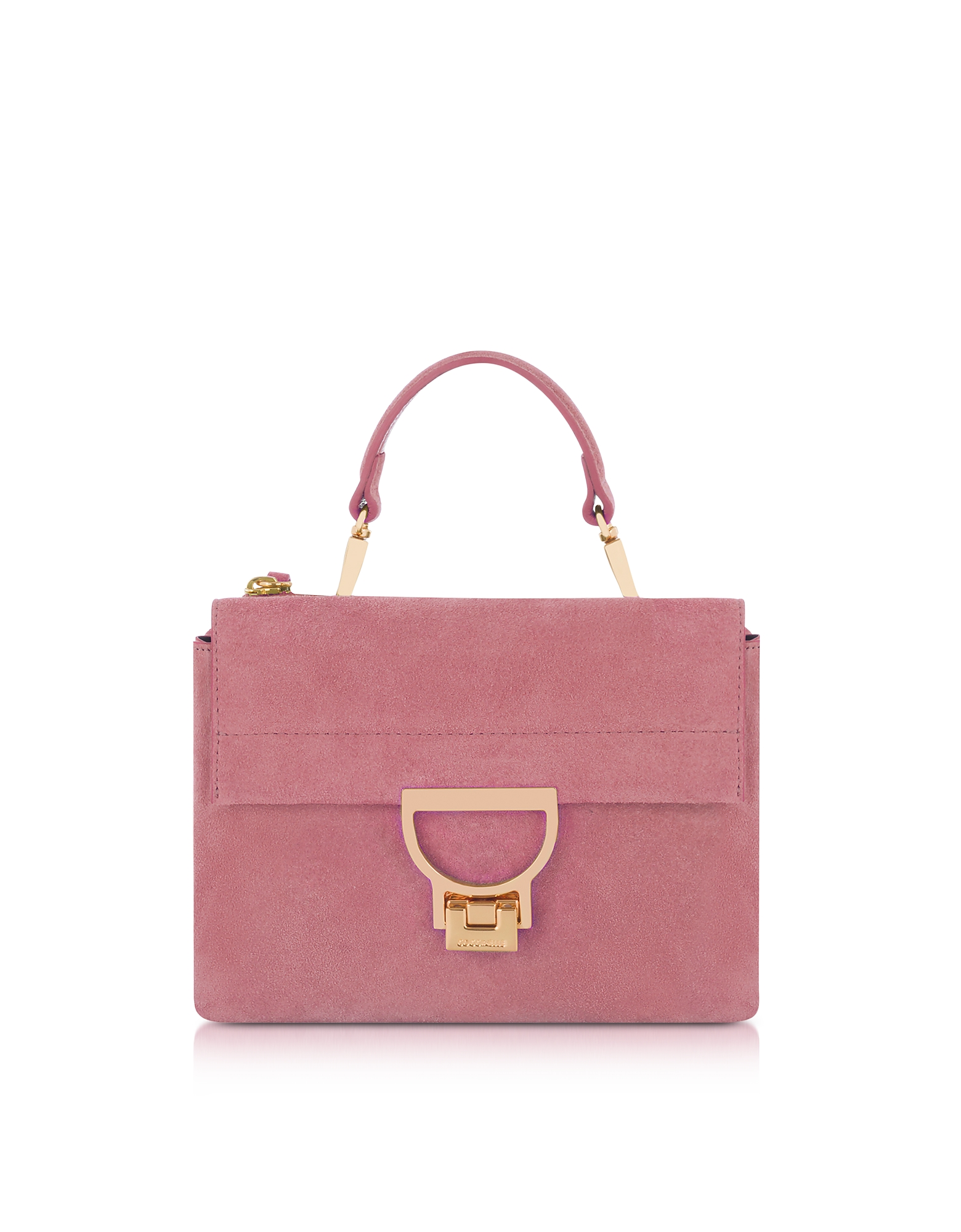 Coccinelle Handbags, Milkshake Suede Arlettis Mini Bag w/Shoulder Strap