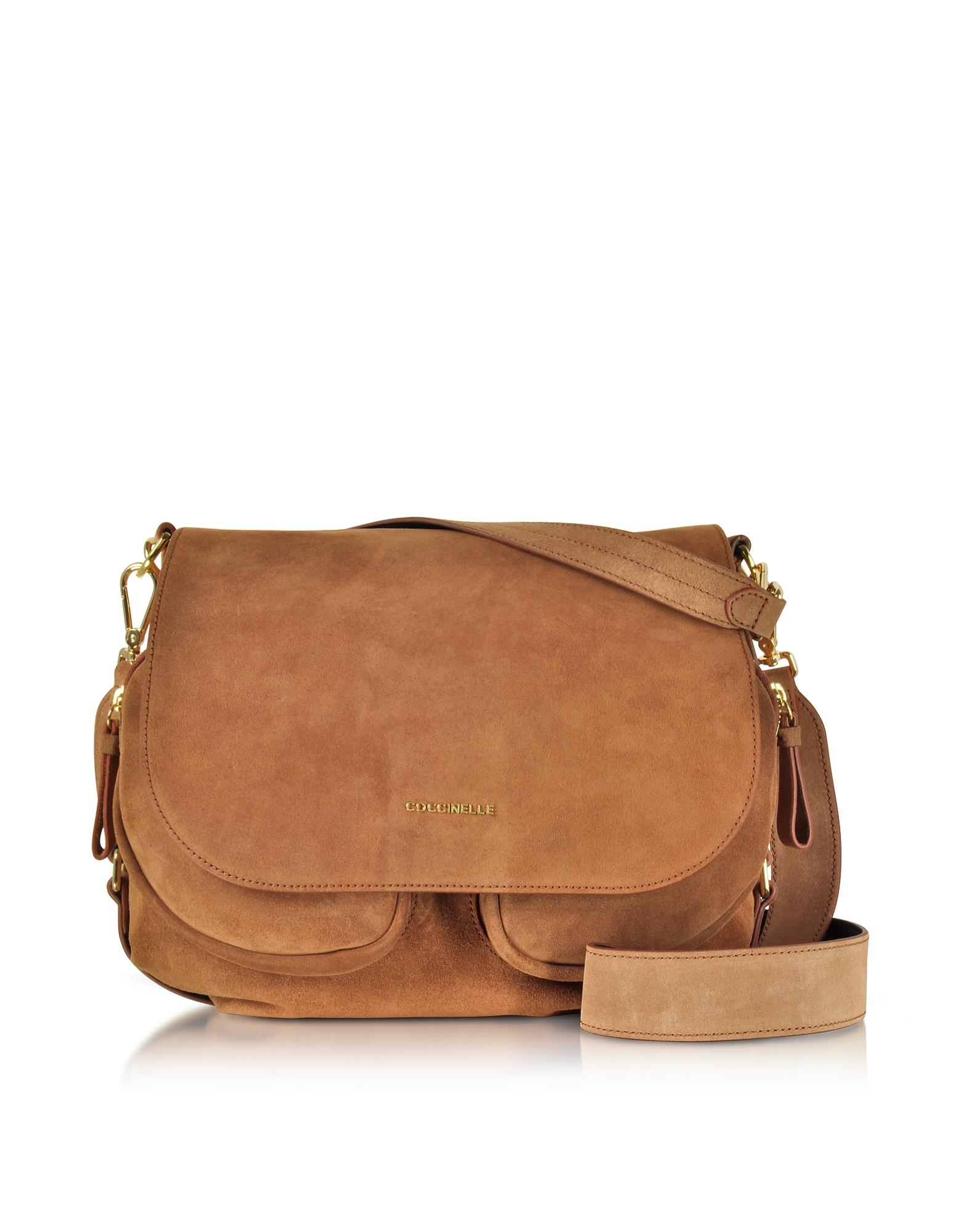 Coccinelle Handbags, Janine Suede Shoulder Bag