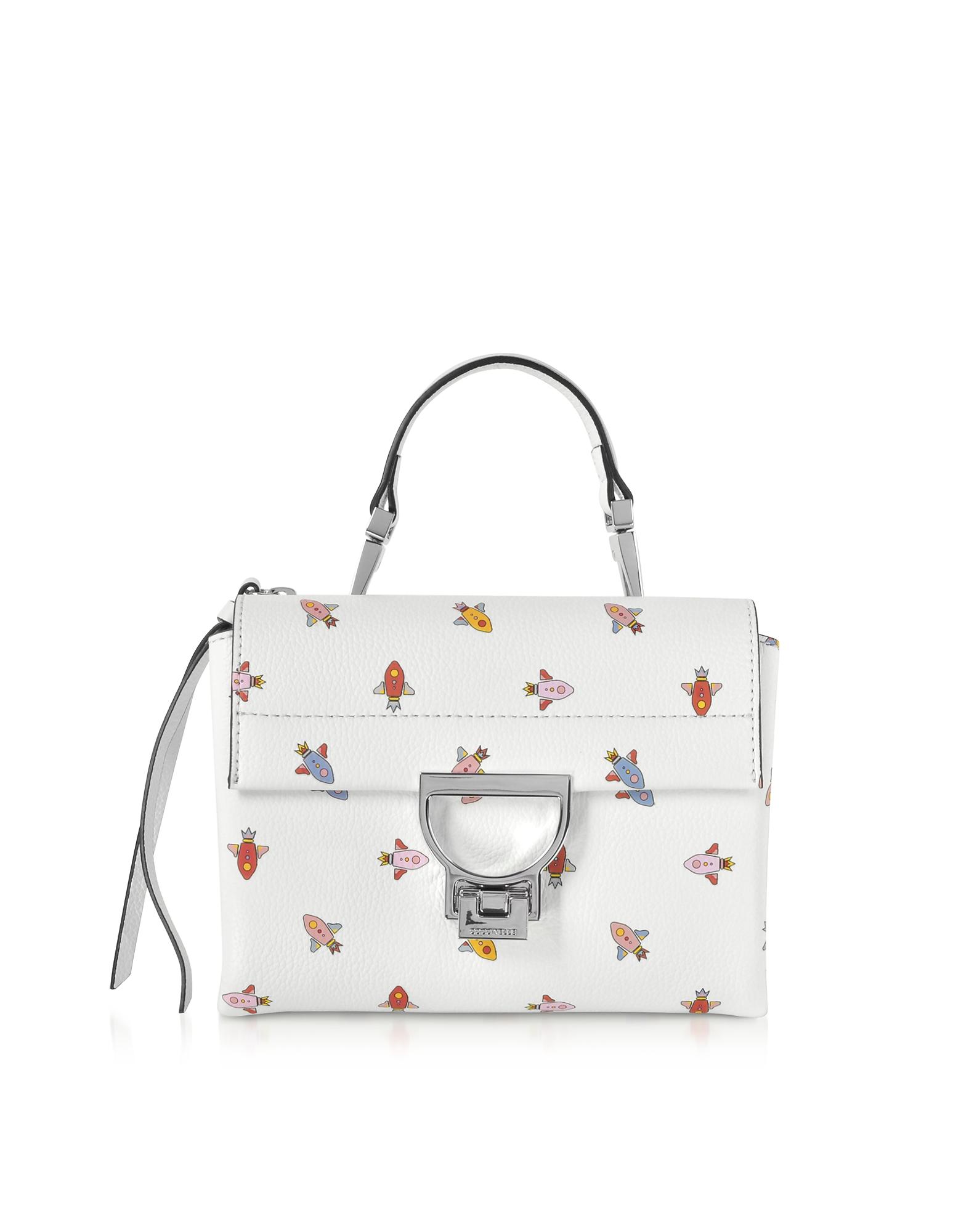 Coccinelle Handbags, Arlettis Mini Razzo Printed Leather Shoulder Bag