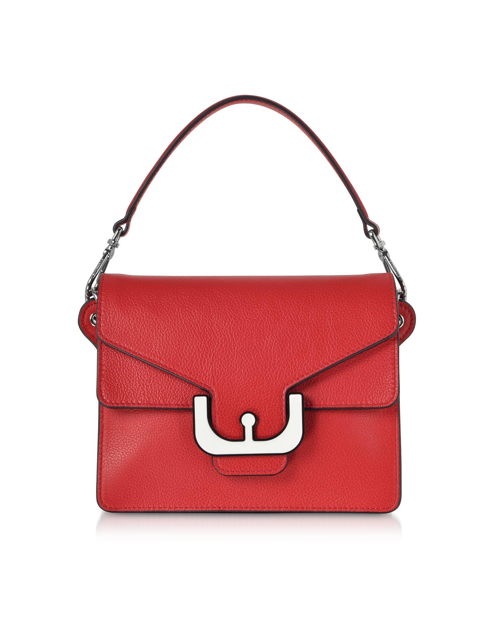 Ambrine Graphic Leather Crossbody Bag W/Canvas Strap