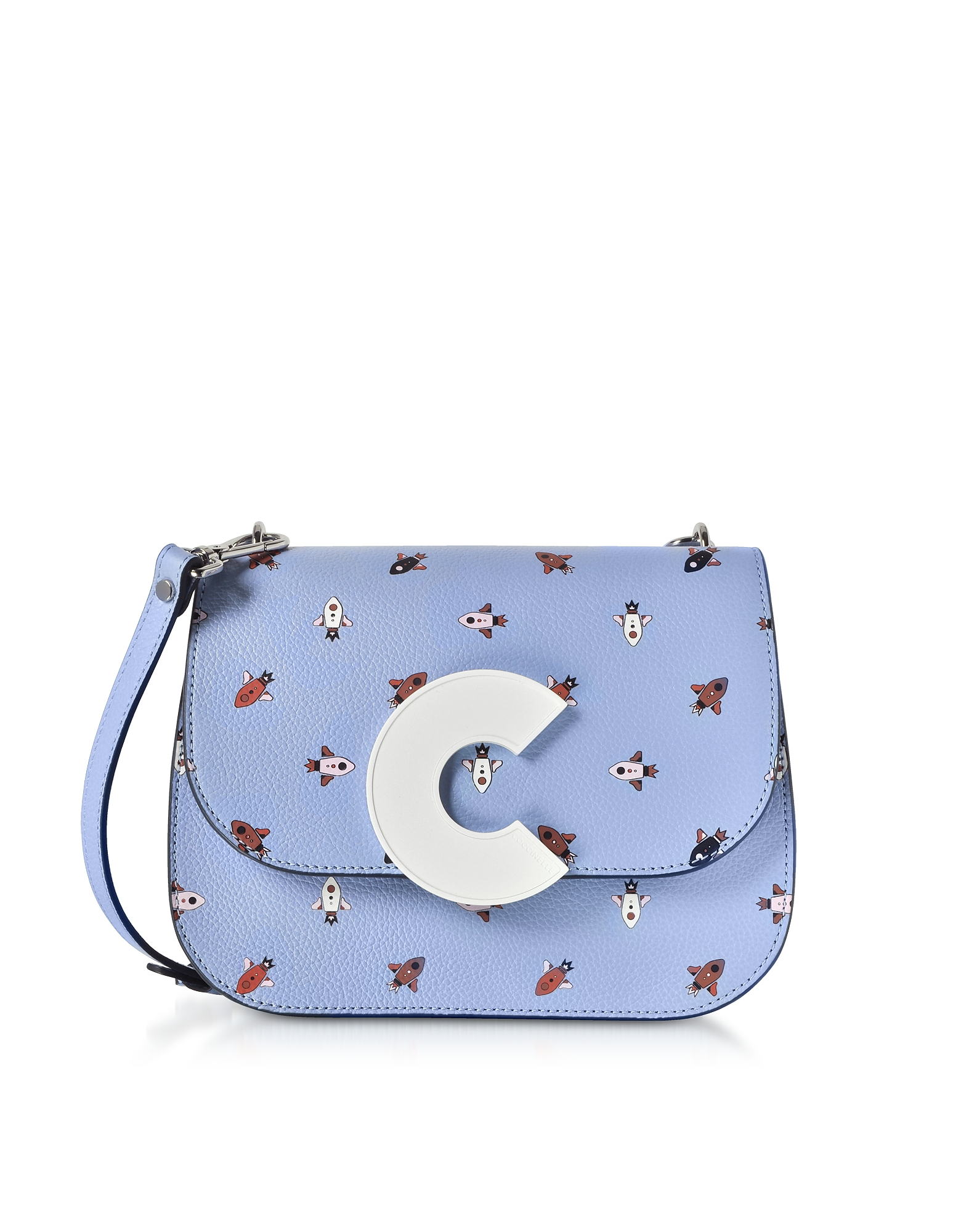 Craquante Razzo Printed Leather Shoulder Bag