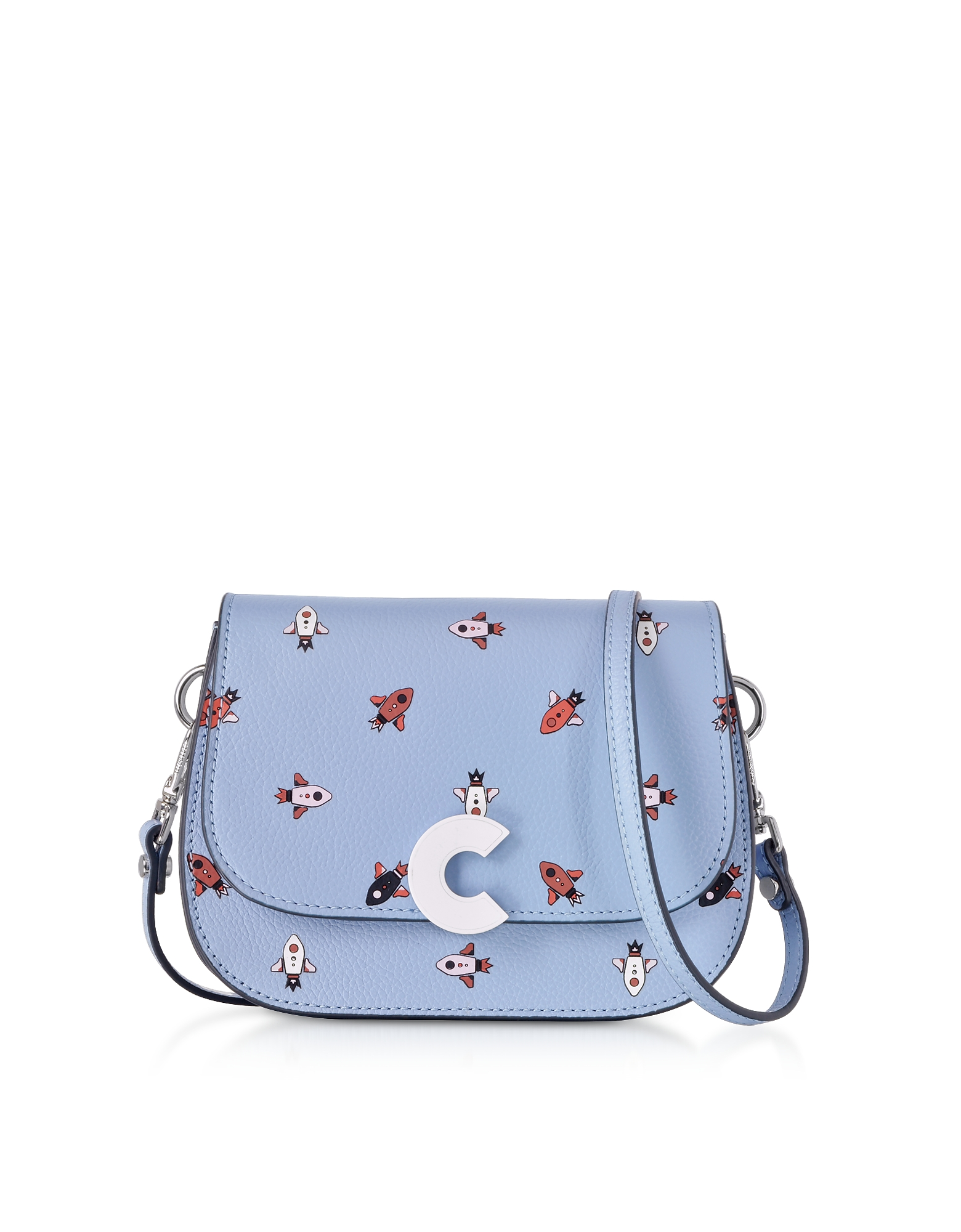 Craquante Razzo Printed Leather Small Shoulder Bag