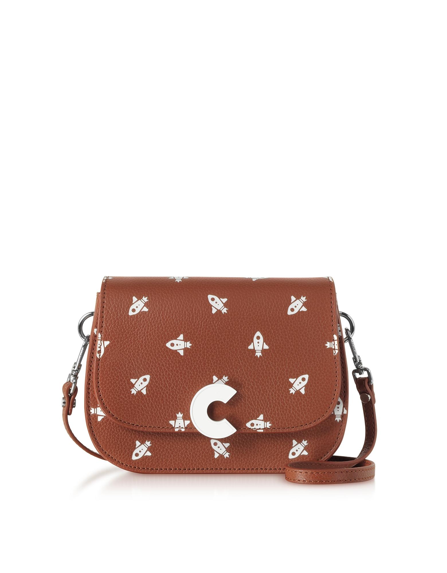Craquante Razzo Printed Leather Small Shoulder Bag