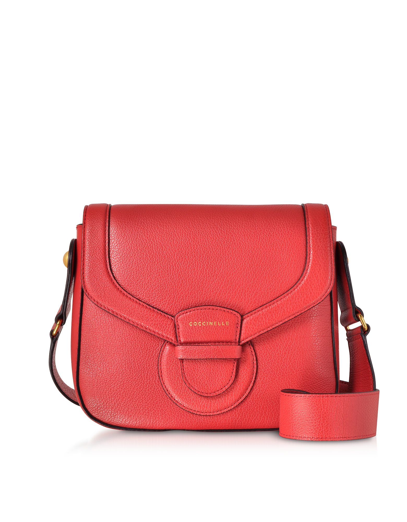 Vega Medium Leather Shoulder Bag