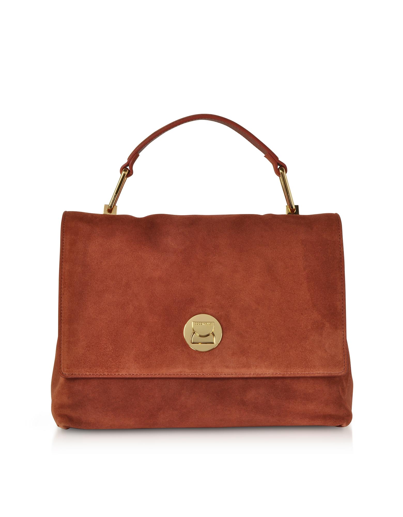 Coccinelle Handbags, Liya Medium Suede Satchel Bag