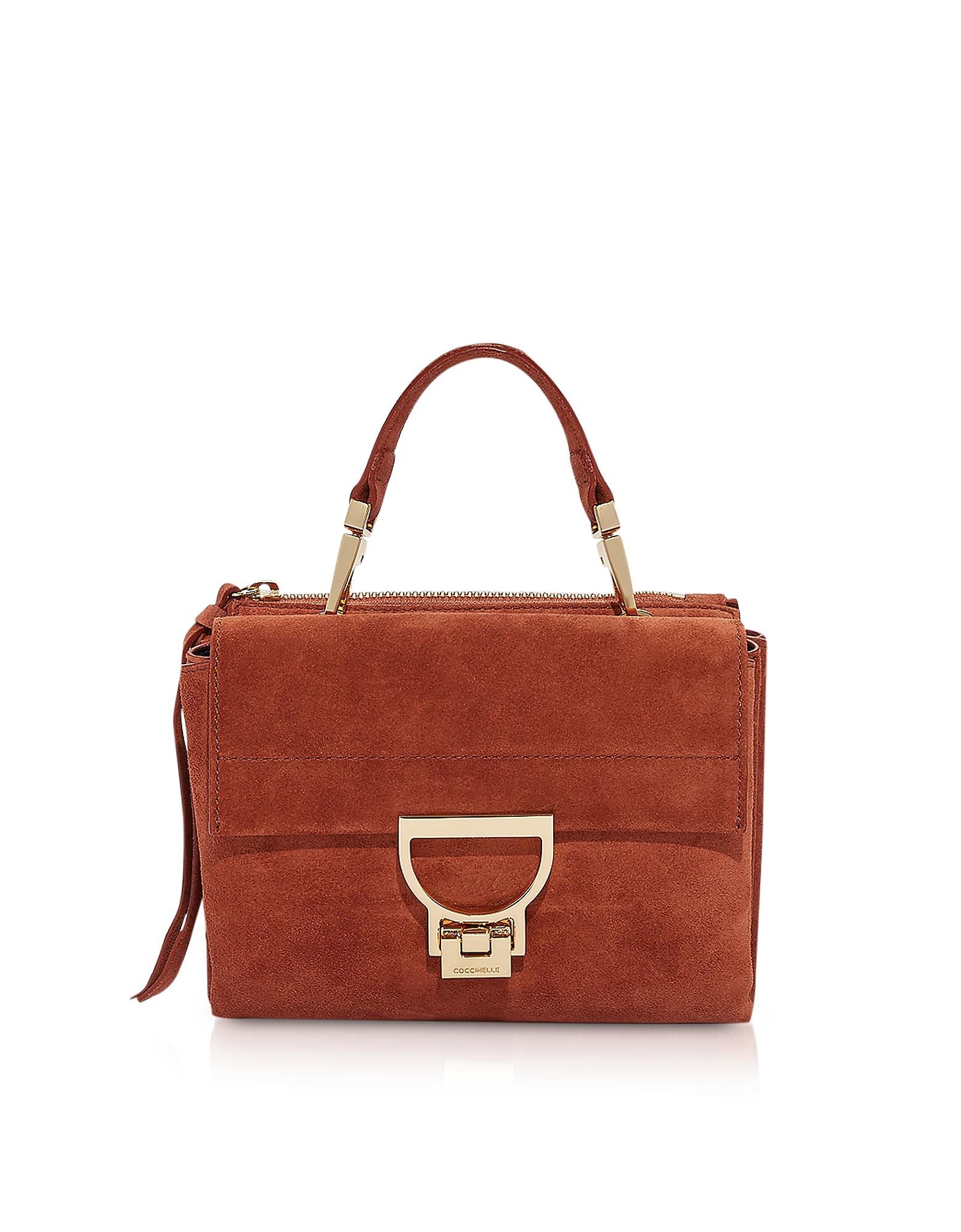 Arlettis Suede Mini Bag w/Shoulder Strap