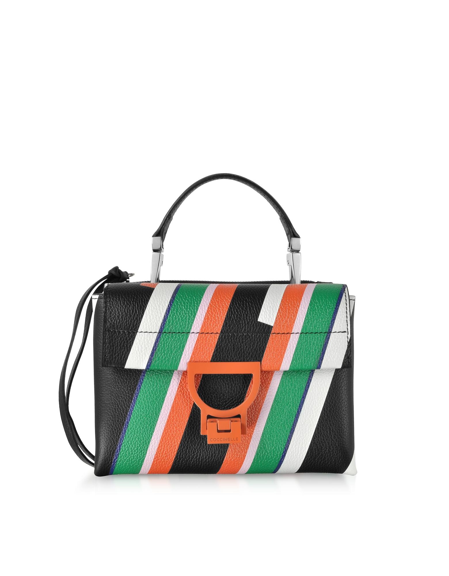 Coccinelle Handbags, Arlettis Stripes Mini Bag w/Shoulder Strap